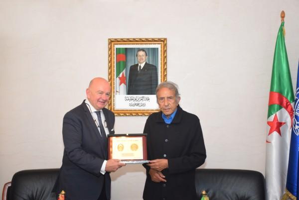 سفير كرواتيا بالجزائر ضيف السيد المدير العام للأمن الوطني