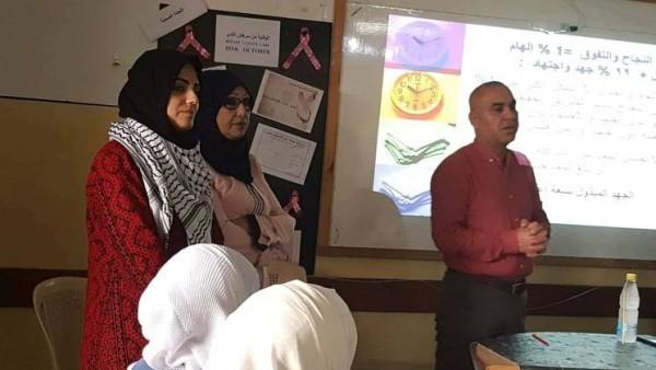الشبيبة تنظم ورشة مفاتيح النجاح في مدرسة بنات فاطمة سرور الثانوية