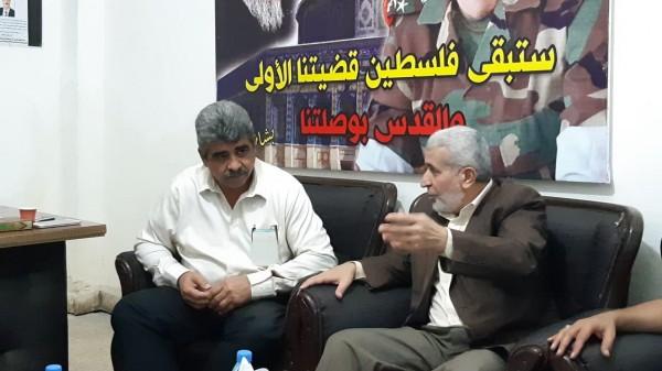 وفد من حركة الجهاد الاسلامي يزور منظمة الصاعقة في مخيم البص بلبنان