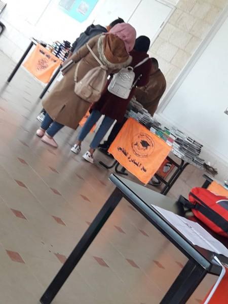 تجمع المبادرة الطلابي في جامعة فلسطين الأهلية ينظم معرض الوحدة الوطنية