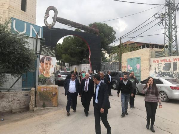 حميد يعبر عن فخره بإنجازات وواقع مخيم عايدة عقب زيارة شملت مؤسساته