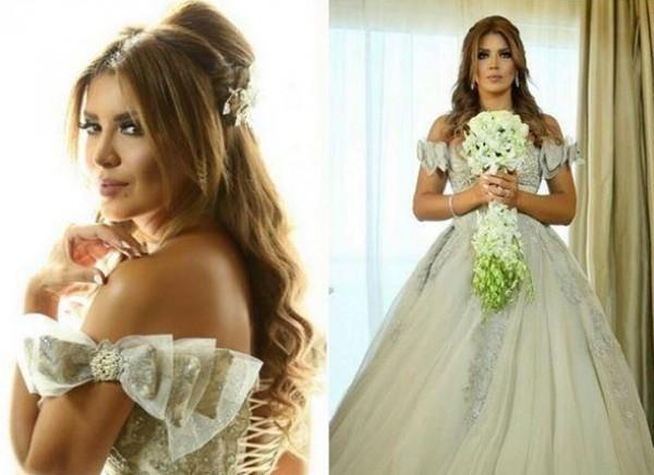 اختاري فستان زفافك بأكتاف منسدلة على غرار النجمات العرب