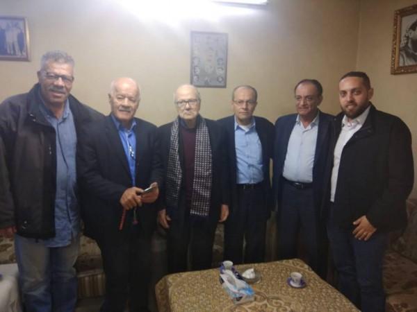 القدومي يلتقي في مكتبه في عمان رئيس هيئة الاسرى والمحررين