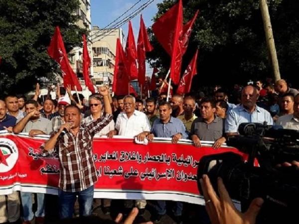 الديمقراطية: اسقبال دول خليجية لمسؤولين إسرائيليين طعنة في ظهر القضية الفلسطينية