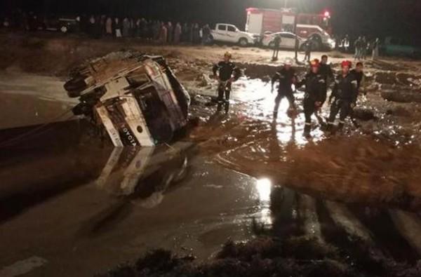 """""""كارثة السيول"""" بالأردن.. 11 وفاة وتسع إصابات"""