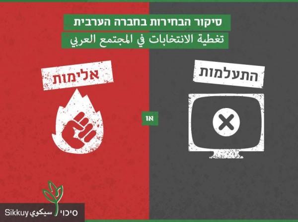 سيكوي: الاعلام الاسرائيلي تجاهل البلدات العبرية بشكل مطلق إلا لتغطية حالات العنف