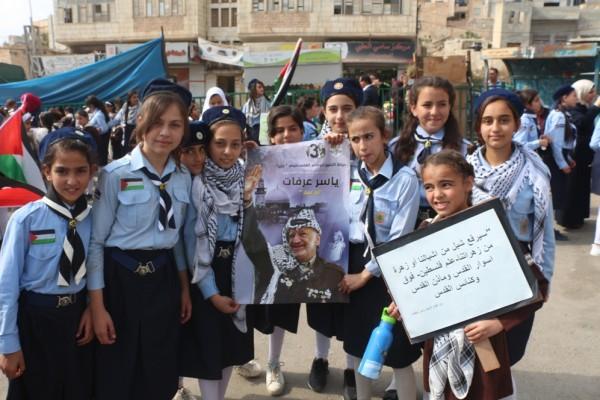 زهرات طوباس يحملن صور الرئيس الراحل ورفع لافتات خلدت ذكراه 14