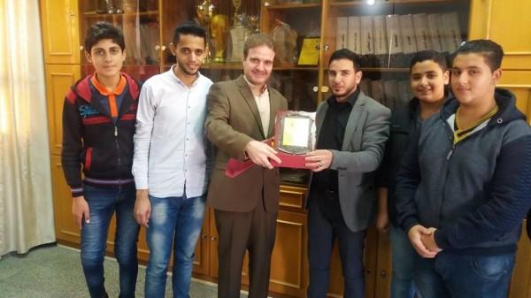 اتحاد لجان الطلبة الثانويين في شمال غزة يزور مدرسة خليفة بن زايد