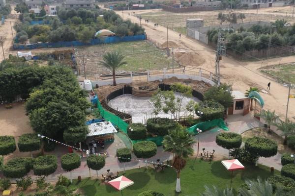 بلدية النصيرات تواصل العمل في مشروع المدينة المائية