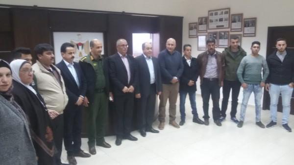 وفد من قيادة وكوادر جبهة النضال يزور اللواء ابراهيم رمضان