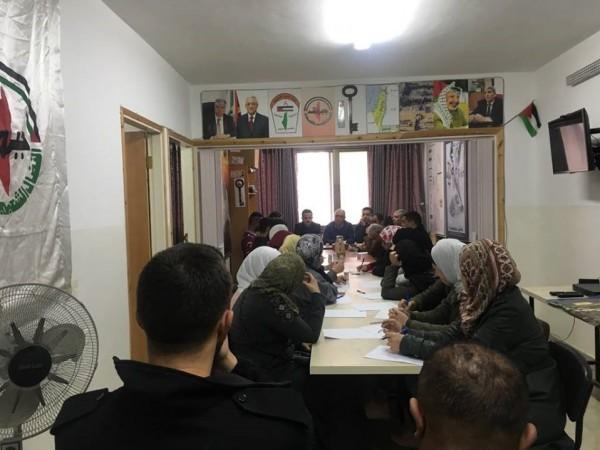 جبهة النضال الشعبي تعقد اجتماعا موسعا لكادرها في محافظة نابلس
