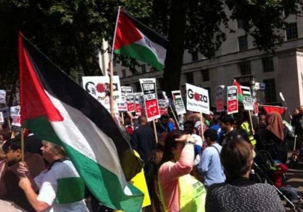الجالية الفلسطينية ببريطانيا تشارك في حفل بمناسبة يوم التضامن العالمي مع فلسطين