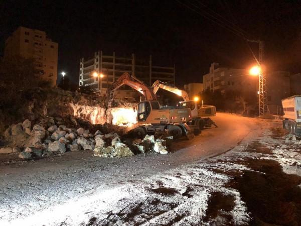 بلدية الخليل تشرع بإعادة تأهيل مدخل المدينة الشمالي الغربي