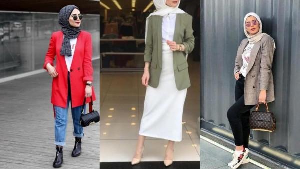 صور: أفكار لتنسيق البليزر over size بأناقة مع الحجاب