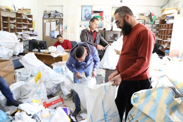 نشاط تطوعي في البريد الفلسطيني