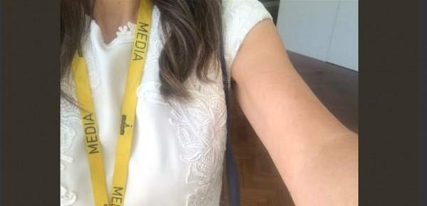 """طرد صحافية من مجلس النواب بسبب ملابسها """"الفاضحة"""".. شاهد الصورة الصادمة"""