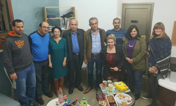 نواب التجمع يعقدون جلسة عمل مع عضو بلدية يافا