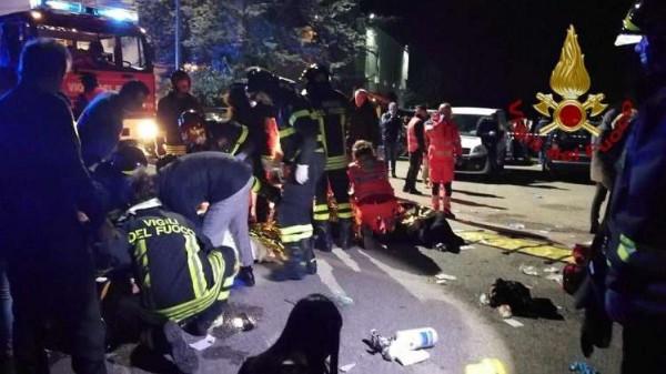 مقتل 6 أشخاص جراء تدافع بملهى ليلي في إيطاليا