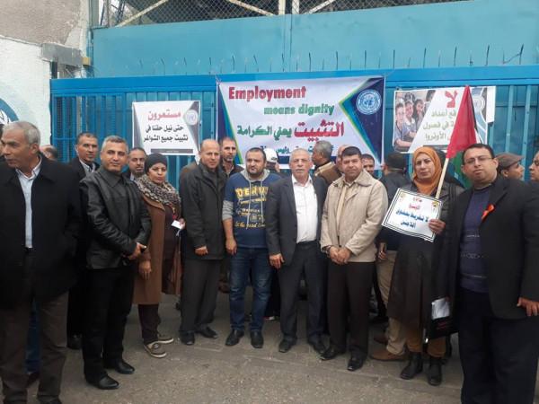 التجمع الفلسطيني للوطن والشتات يشارك بوقفة داعمة لحقوق اللاجئين