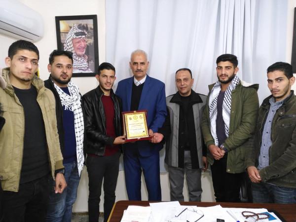 وفد من الشبيبة الفتحاوية بغزة يزور مقر هيئة الإذاعة والتلفزيون