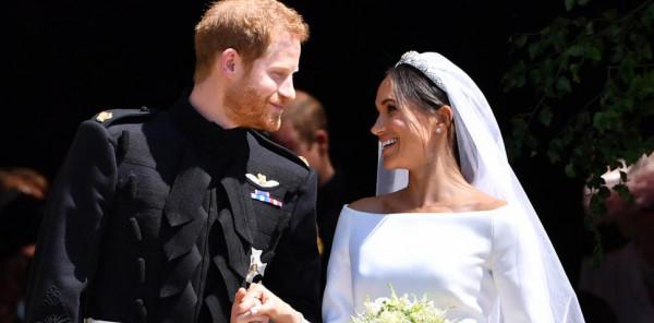 قطعة قماش زرقاء خبأتها ميجان ماركل في فستان زفافها.. سر أخفته عن العالم