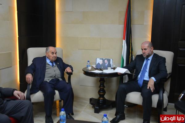 الهباش يستقبل الهيئة الإدارية لمستشفى جمعية المقاصد الخيرية في القدس