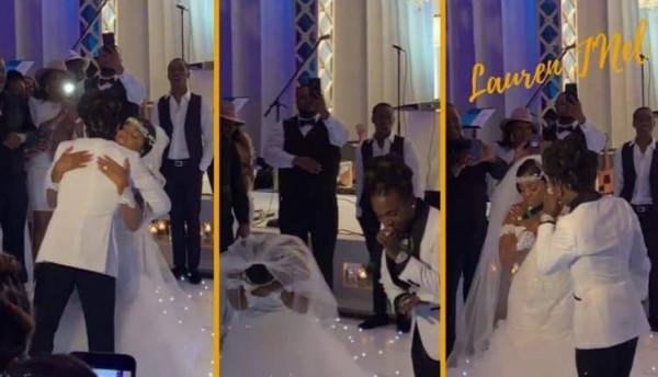 فيديو: ابن محب لوالدته يلقي 100 ألف دولار نقوطا في حفل زفافها