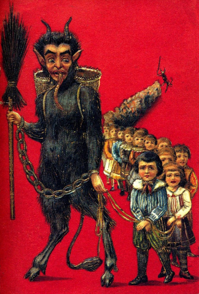 """تعرف على """"كرامبوس""""..  قرين """"سانتا كلوز"""" المرعب آكل الأطفال"""