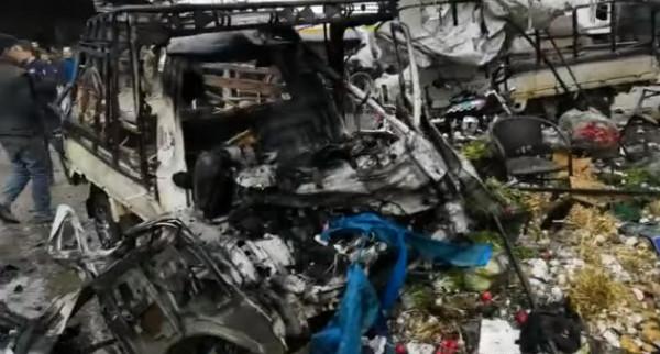 ثمانية قتلى جراء انفجار سيارة مفخخة بسوق وسط مدينة عفرين السورية