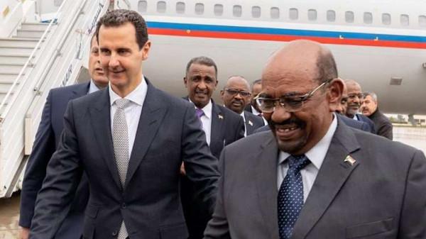 الرئيس السوري يستقبل نظيره السوداني في دمشق