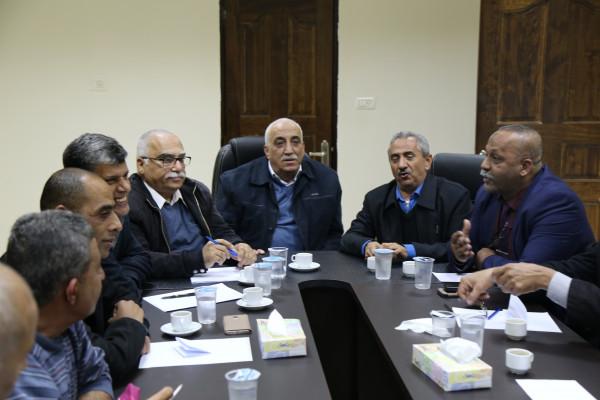القوى الوطنية بأريحا يؤكدون وقوفهم خلف الرئيس محمود عباس