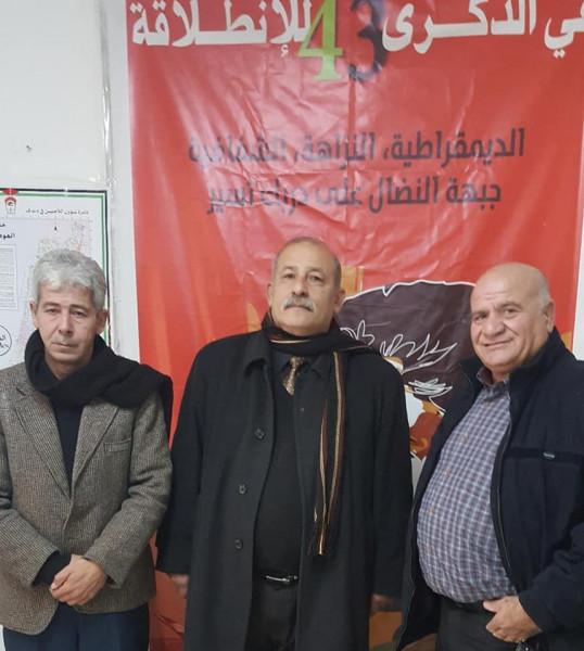 جبهة النضال الشعبي تلتقي بأمين عام اللجنة الشعبية الفلسطينية بالخليل