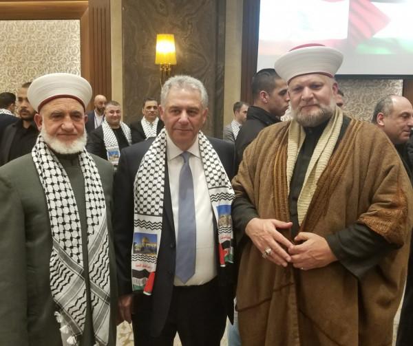مجلس علماء فلسطين في لبنان يشارك في حفل استقبال سفارة فلسطين