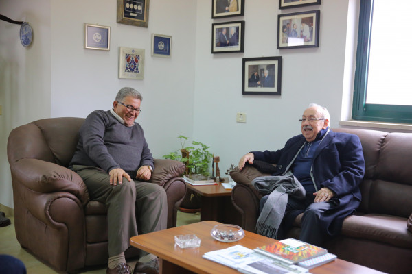 رئيس جامعة القدس يستقبل المهندس محمد نسيبة