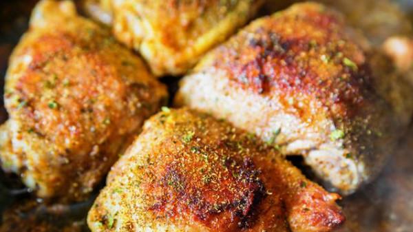 تتبيلة دجاج مقلي بالزعتر