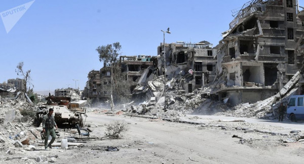 أعضاء اللجنة المشرفة على انقاذ اليرموك يعودون لدمشق بعد لقاءات في فلسطين