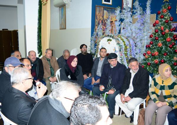 قيادة الجبهة الديمقراطية تزور كنيسة الروم الأرثوذكس بغزة للتهنئة بعيد الميلاد المجيد
