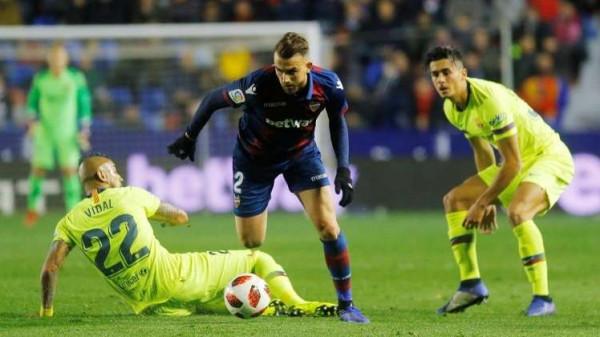 شاهد: ليفانتي يحرج برشلونة في كأس ملك إسبانيا
