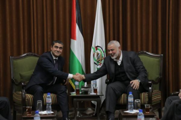 في بيته بغزة.. الوفد الأمني المصري يجتمع مع إسماعيل هنية