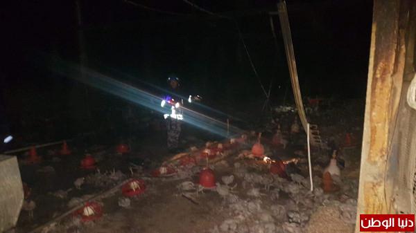 شاهد: دفاع مدني طولكرم يُخمد حريقاً بمزرعة دجاج شرق المحافظة