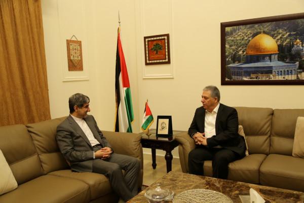 دبور يستقبل السفير الايراني في لبنان