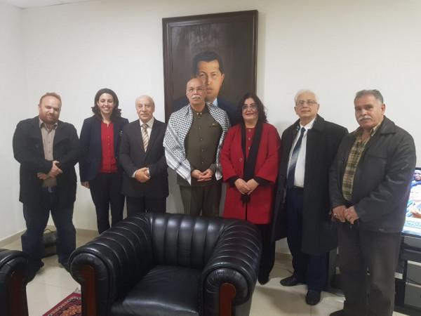 الديمقراطية تلتقي السفير الفنزويلي وتهنئ الرئيس مادورو لولاية رئاسية ثانية