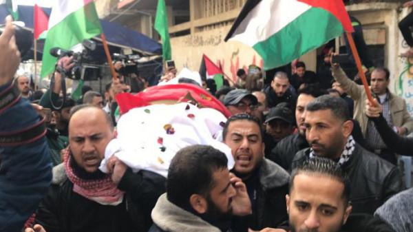 جماهير غفيرة بغزة تُشيع جثمان الترامسي التي استشهدت أمس في مسيرات العودة
