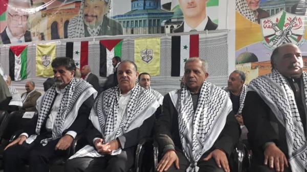 جبهة النضال الشعبي الفلسطيني تشارك بالمهرجان المركزي بمناسبة الذكرى الـ54