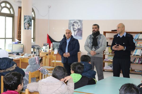 اطلاق مخيم شتوي تحت عنوان اصدقاء الشرطة والمكتبة في قلقيلية