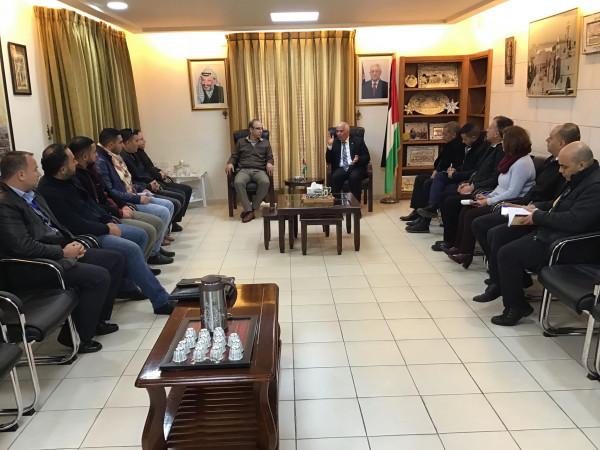 المحافظ حميد يلتقي لجنة السلامة العامة لبحث العديد من القضايا