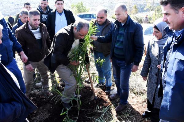 بمشاركة المحافظ البلوي: احياء يوم الشجرة في محافظة سلفيت