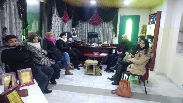 اجتماع لنقابة المطابع والإعلام والنشر في اتحاد عمال سلفيت
