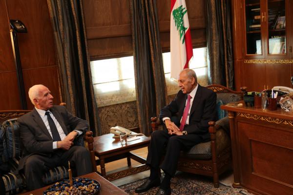الأحمد يلتقي رئيس مجلس النواب اللبناني نبيه بري
