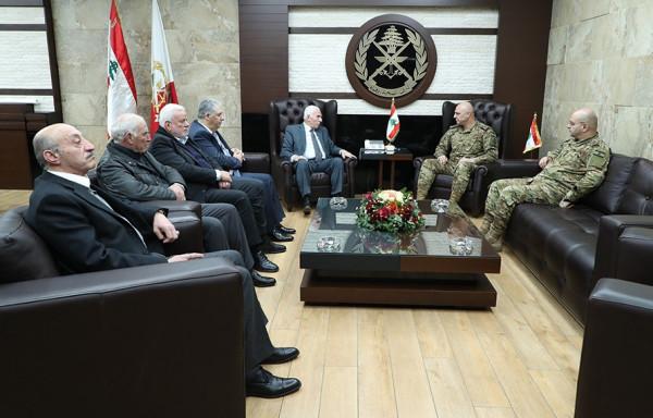 عزام الأحمد يلتقي قائد الجيش اللبناني